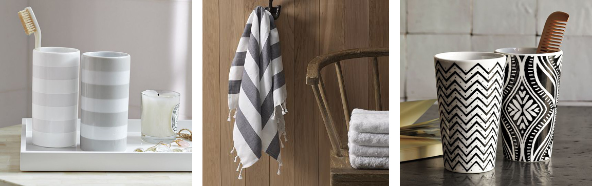 Bathroom Accessories West Elm black. white. yellow.}: bathroom accessories from west elm