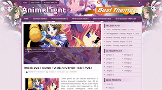 Anime Light Blogger Templates