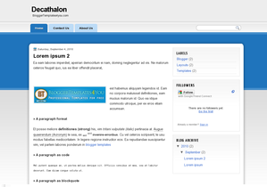 Decathalon Blogger Layout