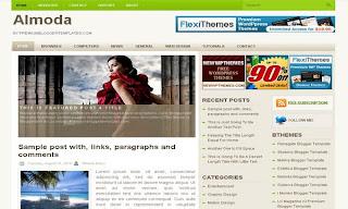 Almoda Free Blogger Template