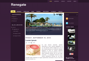 Renegate Free Blogger Template