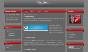 WebPoint Blogger Template