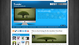Evander Free Blogger Template