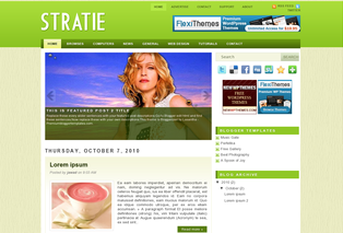 Blogger Templates Stratie Blog Template