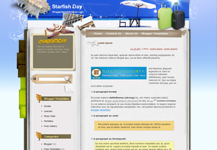 Templates For Blogger Starfish Day