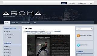 Blogspot templates Free Aroma