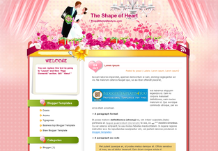 Love Blogger Templates The Shape of Heart