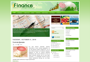 Free Blogger Templates iFinance Template