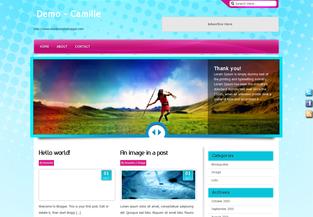 Free Premium Blogger Template Camille