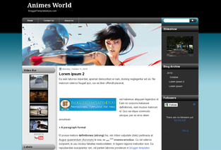 Animes World Blogger Templates