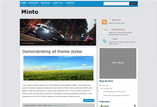 Minto Blogger Template