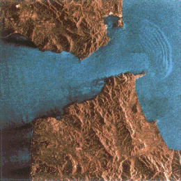 internal waves near the Straits of Gibraltar