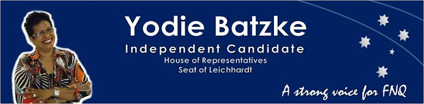 Yodie Batzke Independent Candidate for Leichhardt
