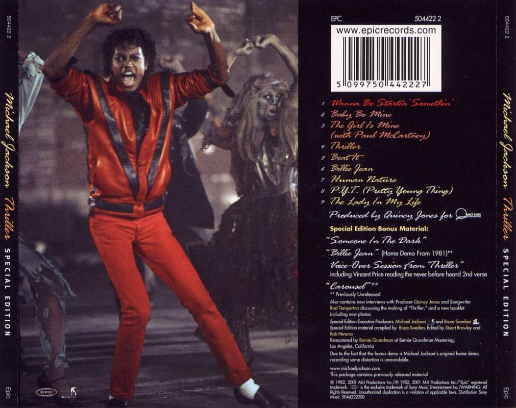 michael jackson thriller analysis Michael jackson's 'thriller' has been named as the most popular halloween  song by spotify analysis revealed by the streaming service.