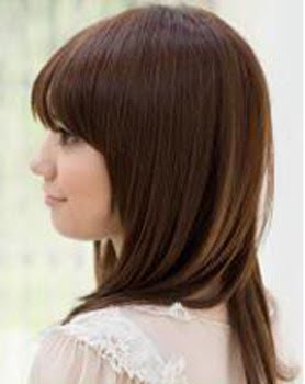 Straight Layered Haircuts Medium Length