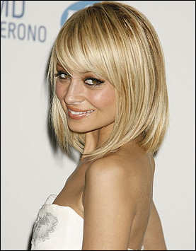 Nicole Richie Short Blonde Bob Hairstyles