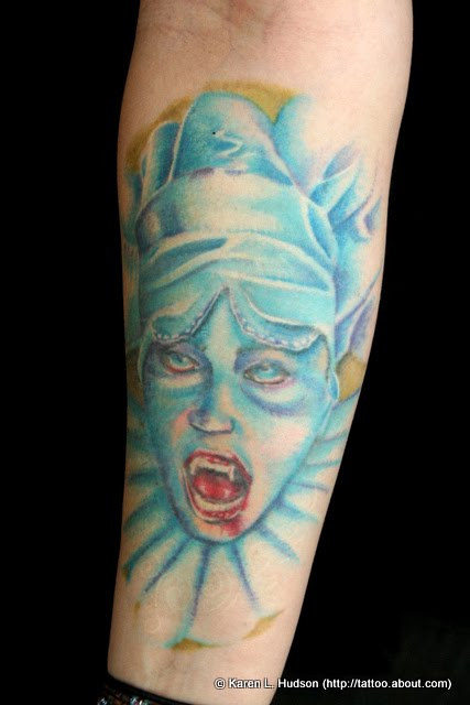 Blue Faced Vampire Tattoo