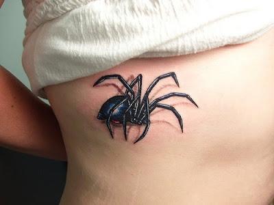 Realistic Spider Tattoo