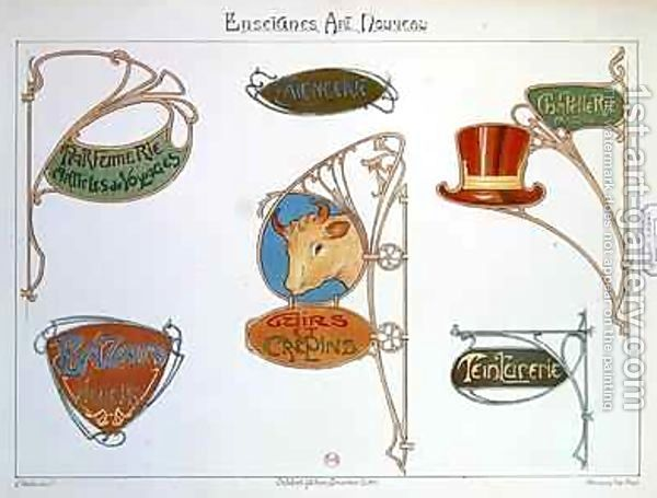Another reason I like art nouveau is for it's lack of perfect or literal
