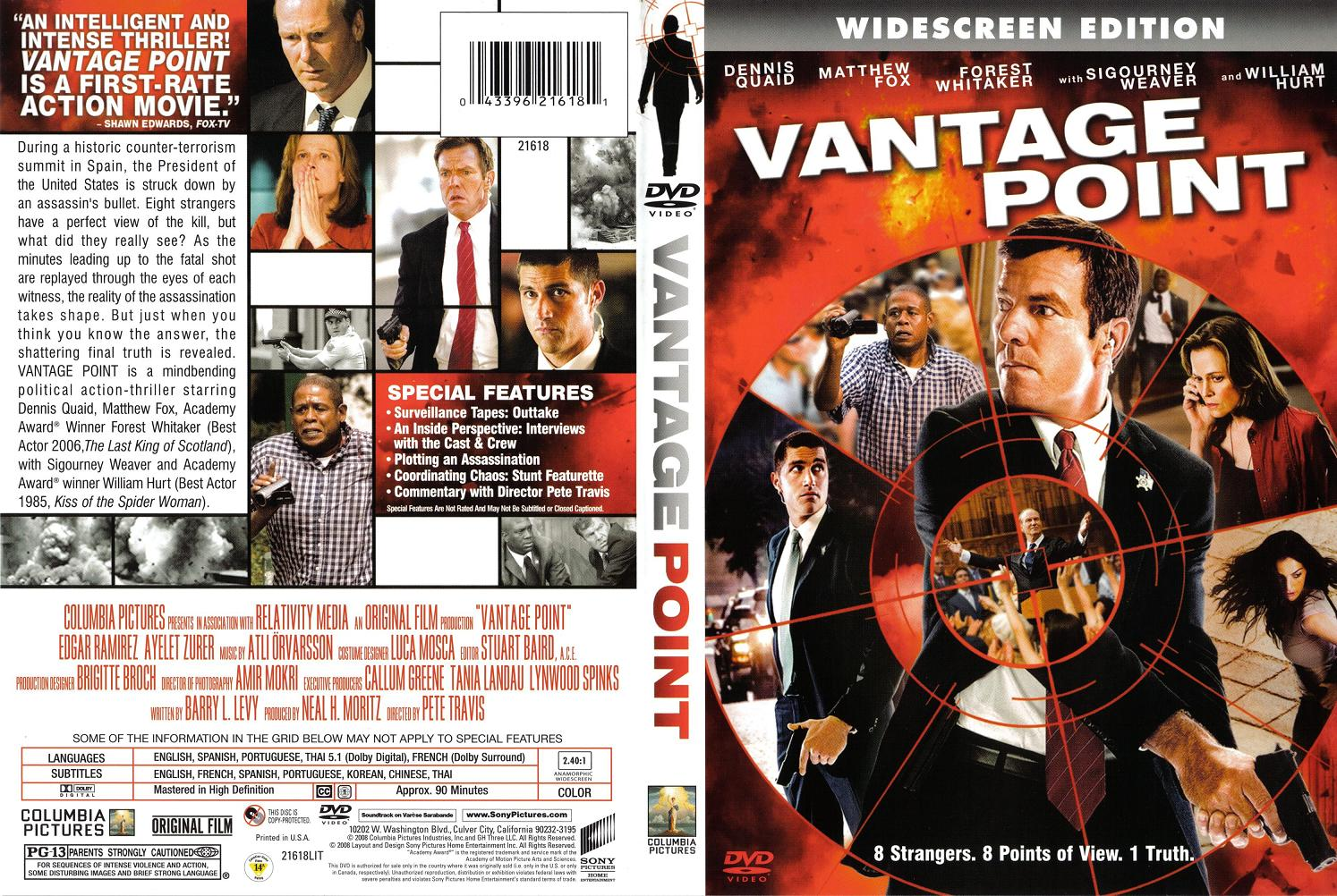 the different perspectives in vantage point a movie by pete travis In kurosawa's masterpiece, we saw four different sides to the story,  gives us a whopping eight different perspectives of the same incident  vantage point has a lot going for it mostly the fantastic international  in my interview with the director, peter travis explained that logistically he wasn't able to film.