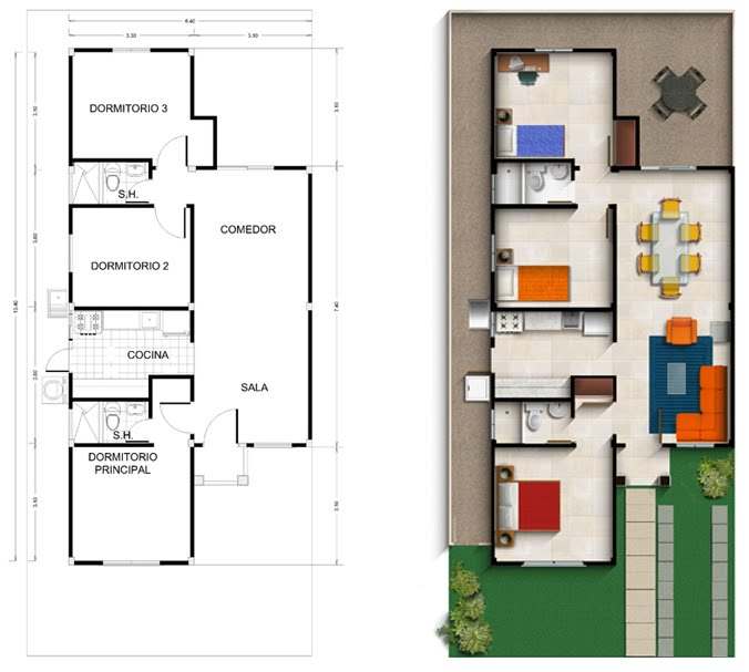 Compa as que ofrecen planes de casa en guayaquil for Cocina plano arquitectonico