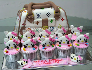 Niknoek Cake: LV Bag & Hello Kitty