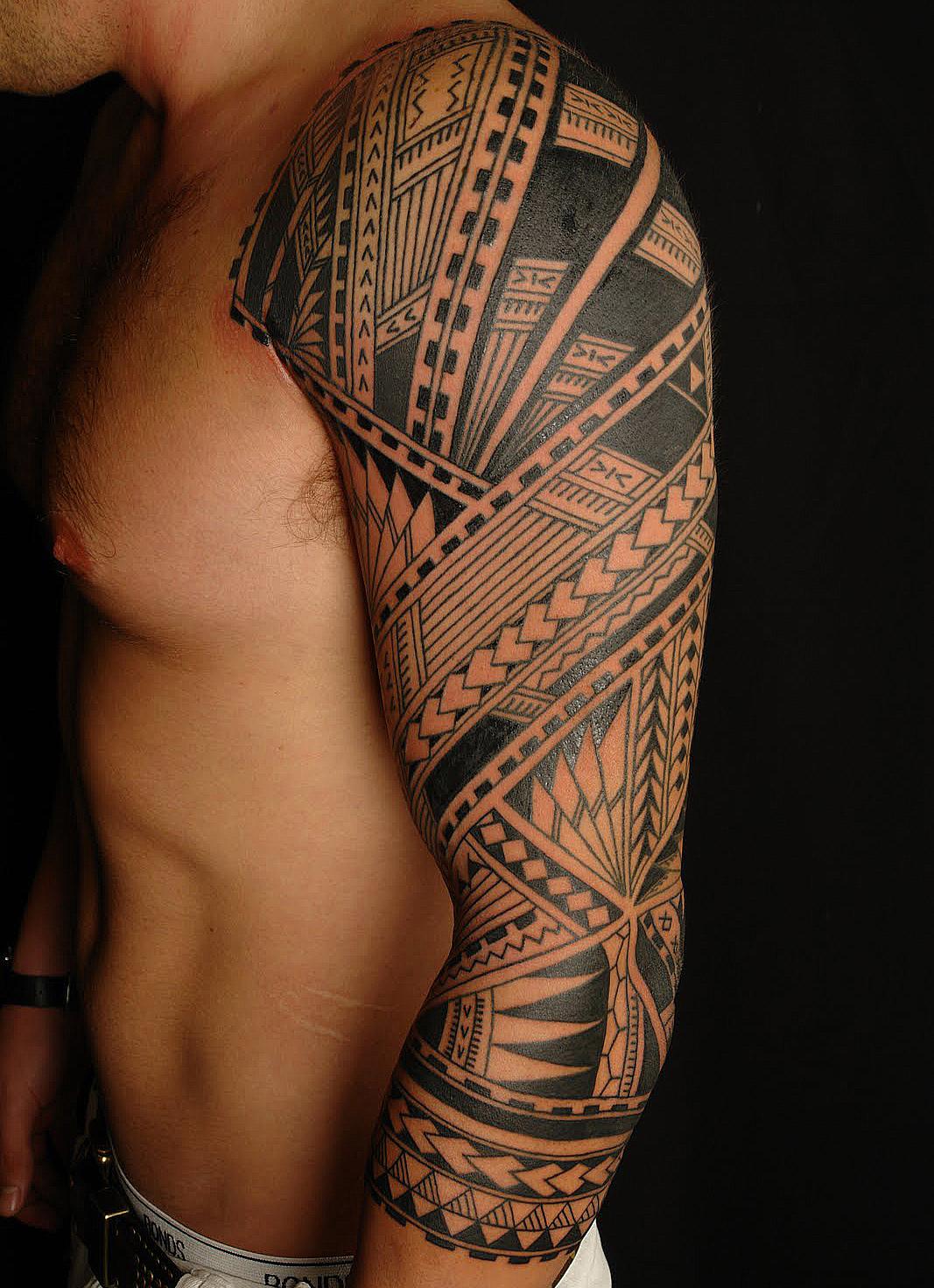 Samoan Polynesian Half Sleeve