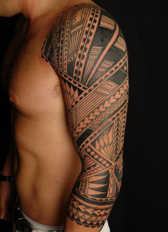 Samoan Polynesian Half Sleeve title=