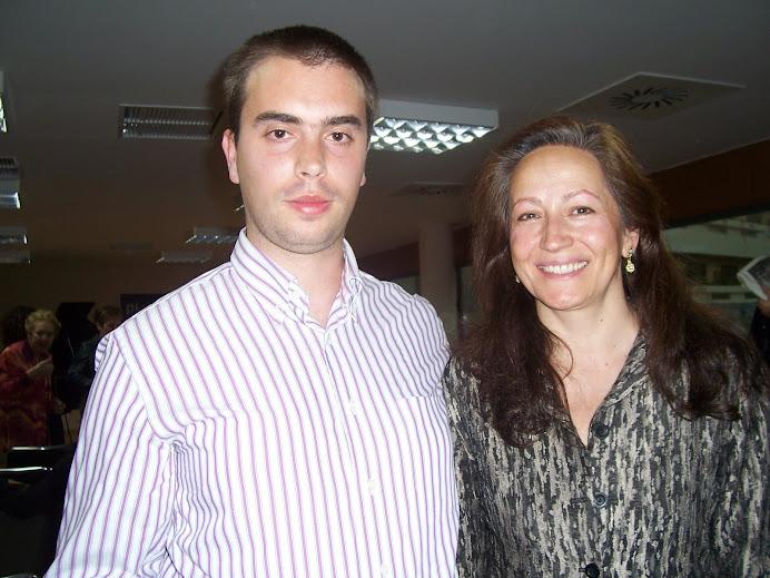 Javi y Consuelo Díez en 2008