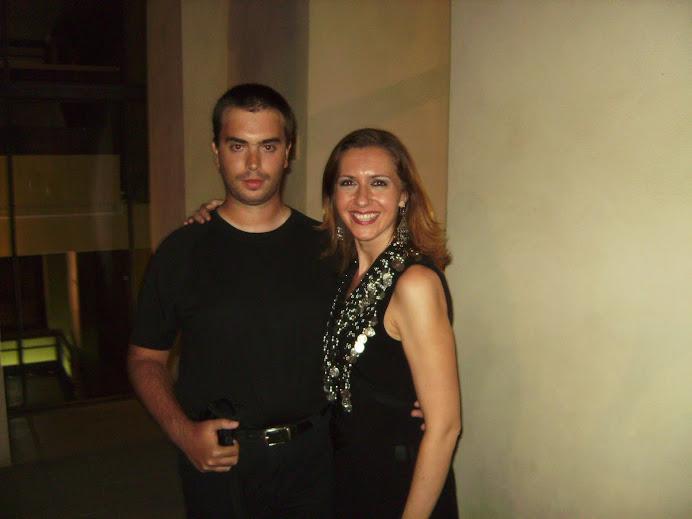 Javi y Jasmina Petrovic en verano de 2009