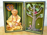 Buddha in a Vintage Box -Art Doll