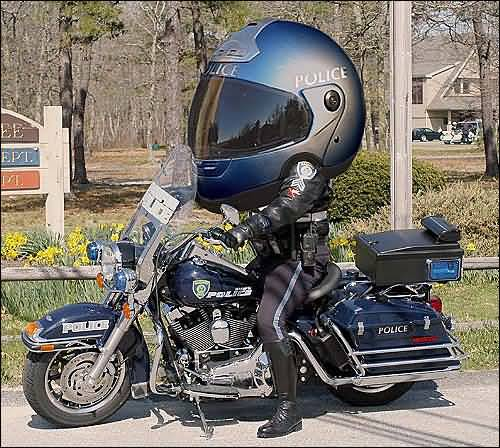 funny helmet police