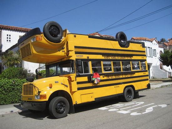 pimped out school bus interior