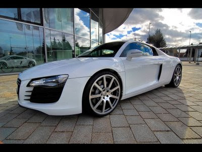 White Audi R8 Spyder Wallpaper. Audi R8 Wallpapers