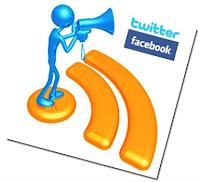 كيفية نشر مواضيع المدونات والمواقع تلقائياً على تويتر و فيسبوك في آن واحد  Facebook+twitter