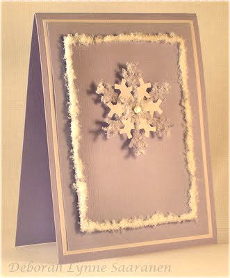 Flower soft october 2009 polar white flower soft is the perfect snow for crafters heres a card deb saaranen made using the polar white for her snowflake and framing mightylinksfo