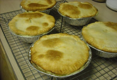 """Comfort Food"" Chicken Pot Pies with Cream Cheese Crust"