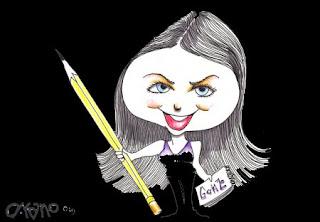 Skylaire Alfvegren, caricature by D. Rano.