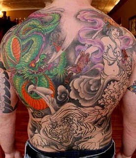 Dragon Japanese Design In Lower Back
