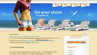 free On your Shore Template blogspot
