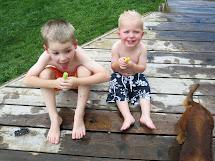 Barefoot Little Boy Sprinkler