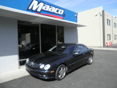 Mercedes Benz CL55 AMG repaired at Almost Everything Autobody