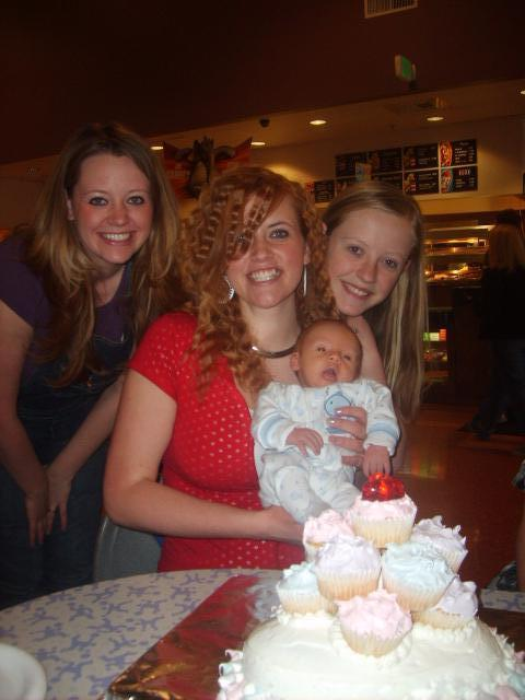 My 17th Birthday with my Sisters and Nephew