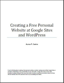Creating a Free Personal Website at Google Sites and WordPress