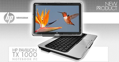 Touch Screen Laptop HP Pavilion tx1000
