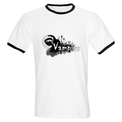 Black and white with blood stained lips, famgs, sexy grunge vampire t-shirt
