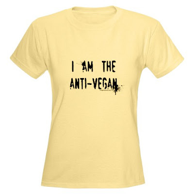 paleo, primal, low carb, anti-vegetarian, anti-vegan t-shirt from Evil Genius Tees