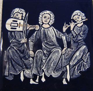 grisaille enamel codex manesse musicians