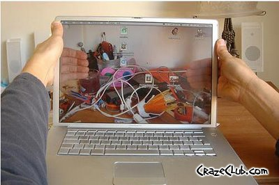 Transparent Laptop OLED screen