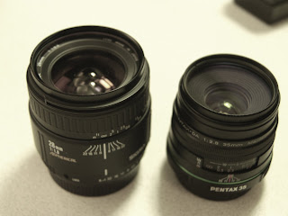sigma 28mm f/1.8 II and Pentax DA 35mm f/2.8 1:1 macro limited